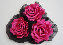 Розы канзаши своими руками из атласных лент. 25 фото