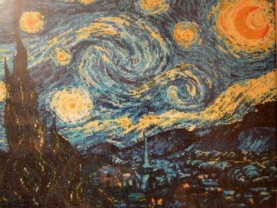 Картина Ван Гог Звездная ночь