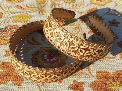 Ободок из бересты handmade  ручная работа в Молдове
