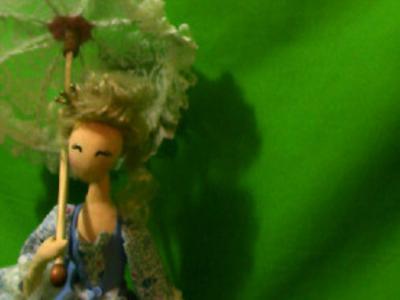 Кукла-тряпиенса Принцесса с зонтиком