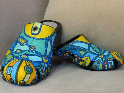 Роспись по обуви ручная работа