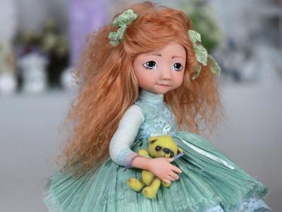 Подвижная кукла Кристин  handmade своими руками