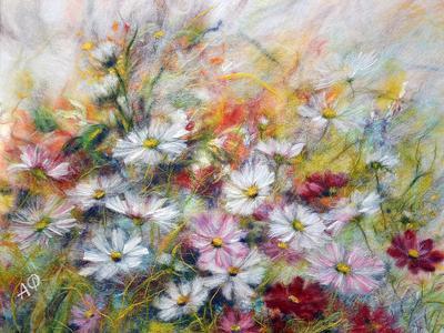Картины полевых цветов.  Ручная работа под заказ