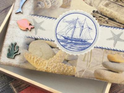 Коробка Маруся на море