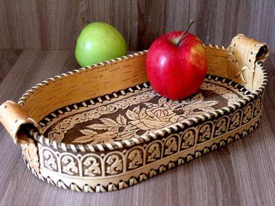 Сухарница handmade из бересты
