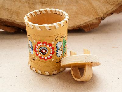 Туесок из бересты  берестяные изделия handmade