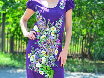 Оригинальные платья ручной работы handmade из льна