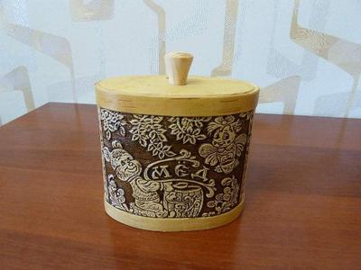 Туесок медовый handmade  изделия из бересты в Молдове