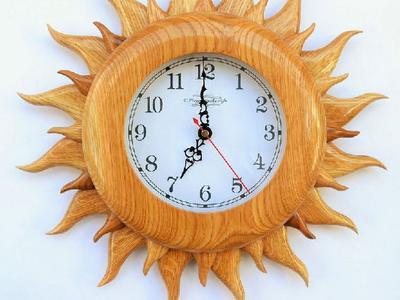 Деревянные настенные часы ручной работы Handmade