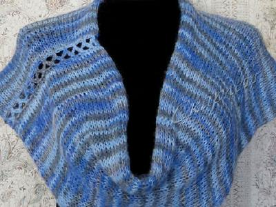 Вязанный шарф-капюшон снуд хомут башлык с шапочкой handmade