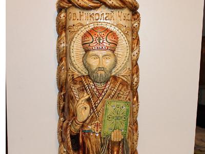 Статуя Николай Чудотворец из дерева