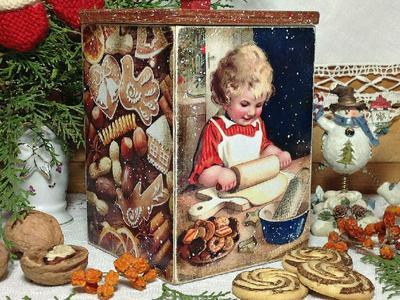 Короб для сладостей ручной работы