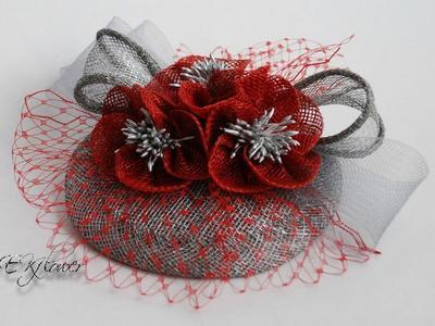 Модная вечерняя шляпа из вуали и бархата