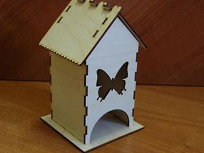 Чайный домик Бабочка - заготовка для декупажа