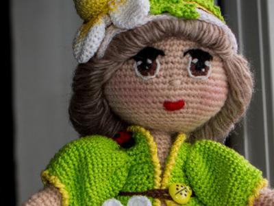 Интерьерная кукла Ромашка