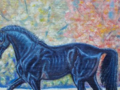 Картина  маслом Карагёз.