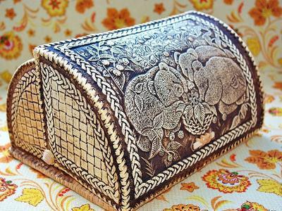 Хлебница handmade из бересты  ручная работа в Молдове