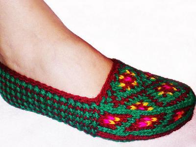 Этническая вязанная обувь ручной работы. Дагестанские джурабы