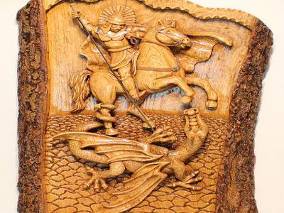Георгий Победоносец образ в дереве