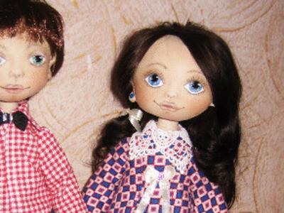 Текстильные игровые куклы Майя и Кирю