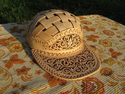 Кепка ручной работы из бересты - handmade в Молдове
