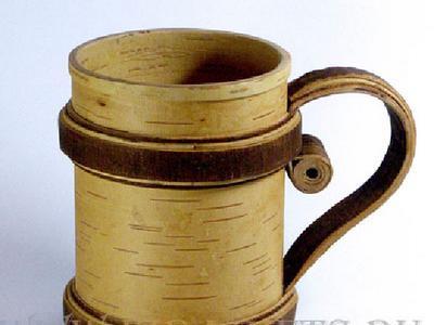 Кружка из бересты сувенирная  работа с берестой в Молдове