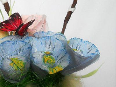 Пасхальная композиция из конфет Кишинев Compozitia de Paste din bomboane Chisinau