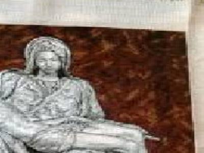 Goblen la Pieta dupa Michelangelo