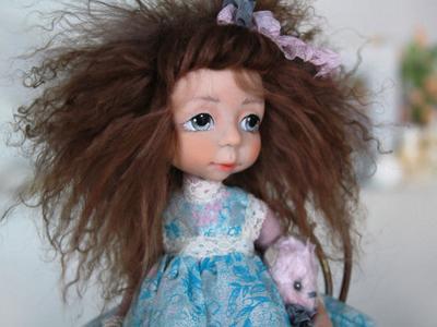 Подвижная кукла Мими сделано своими руками