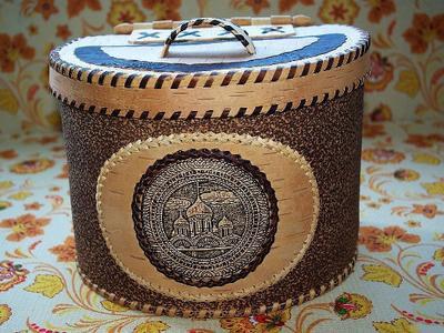 Короб из бересты - изделия ручной работы из березовой коры