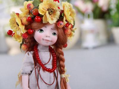 Подвижная handmade кукла Зоряна - ручная работа