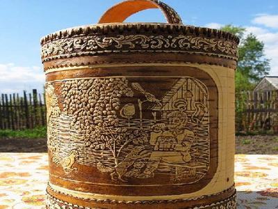 Туес из березовой коры  берестяные изделия ручной работы в Молдове