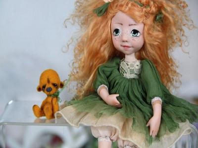 Подвижная кукла ручной работы Варвара