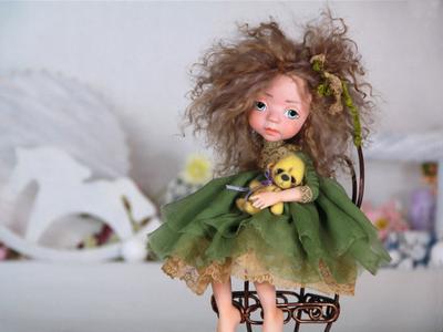 Интерьерная кукла ручной работы Элли