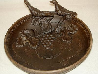 Керамическое блюдо из глины - ручная работа