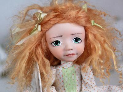 Коллекционная кукла ручной работы Арсения