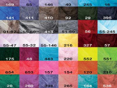 Пряжа для вязания спицами и крючком MOHAIR CLASSIC